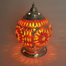Mozaieklamp rood/oranje Ø 15