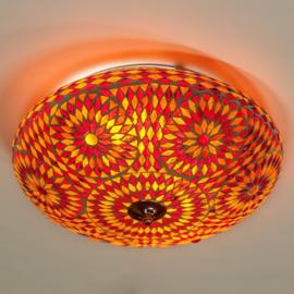 Mozaïek plafonnière Ø 38 cm Rood-Oranje-TD