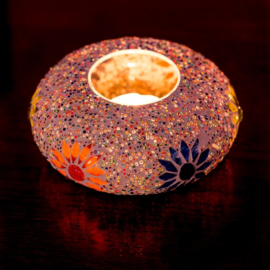 Mozaiek waxinehouder Ufo-Beads
