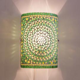 Wandlamp mozaiek cilinder Groen