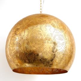 Industriële filigrain lamp goud XL