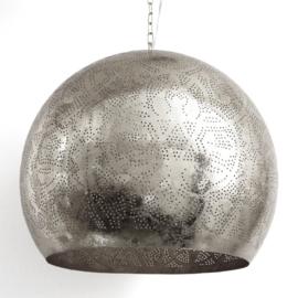 Industriële filigrain lamp zilver XL