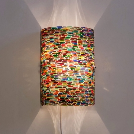 Wandlamp mozaiek cilinder Bangles