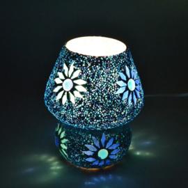 Mozaïeklampje Paddenstoel Turqoise Blauw Beads