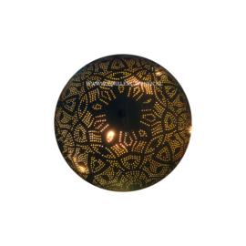 Filigrain plafonnière zwart/goud Ø 28