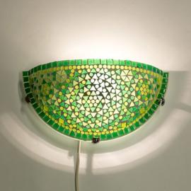Wandlamp mozaiek  Groen
