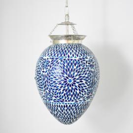 Mozaieklamp Papaja Turqois/Blauw