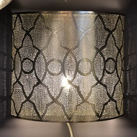 Wandlamp Oosters zilver Large