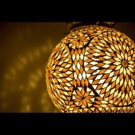 Hanglamp mozaiek Bruin-Beige Ø 25