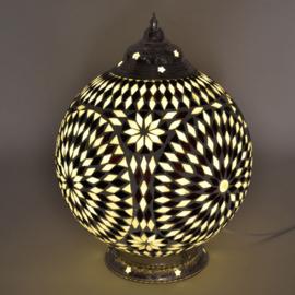 Mozaïeklamp bol Ø 25 Zwart-Wit