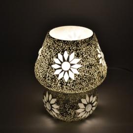 Mozaïeklampje Paddenstoel Wit Beads