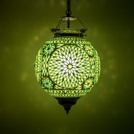 Hanglamp mozaiek Groen Ø 25