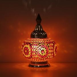 Oosterse tafellamp Rood-Oranje