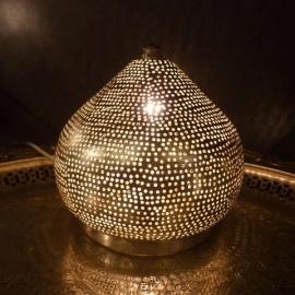 Tafellamp met gaatjes zilver Mini