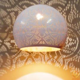 Industriële filigrain lamp wit-goud