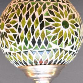 Hanglamp mozaiek Groen Ø 15