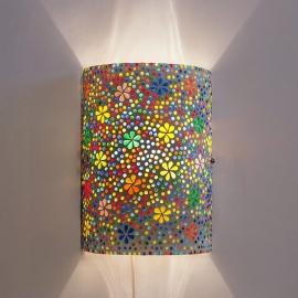 Wandlamp mozaiek cilinder Bloem