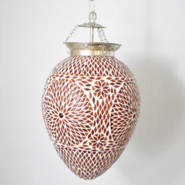 Mozaieklamp Papaja Rood Oranje