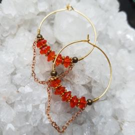 Creolen-goud-oranje