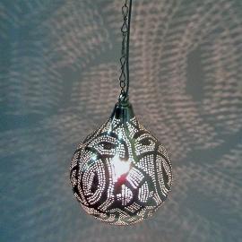 Oosterse Filigrainlamp zilver S