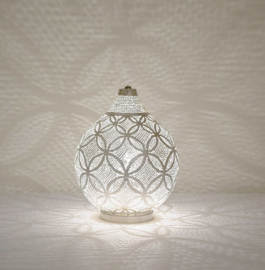 Tafellamp Filigrain zilver Bloem Small