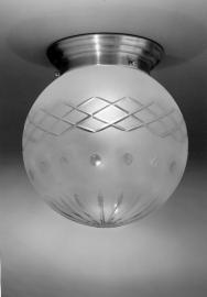 Plafondlamp Bol geslepen