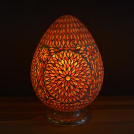 Mozaiek tafellamp Papaja Rood-Oranje