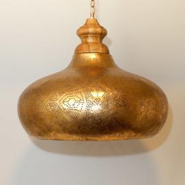 Hanglamp filigrain goud