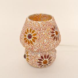 Mozaïeklampje Paddenstoel Rood Oranje Beads
