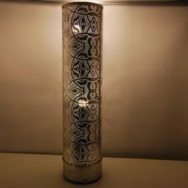 Filigrain vloerlamp Cilinder Vintage Zilver