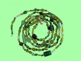 Kralensnoer glas groen
