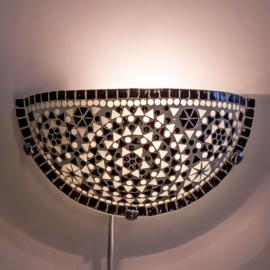 Wandlamp mozaiek  Zwart-Wit
