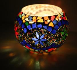 Waxinehouder mozaiek MC Large BG Beads
