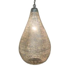 Filigrainlamp zilver Druppel gaatjes XS t/m XL