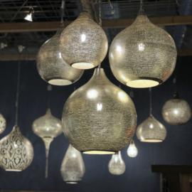 Oosterse lamp zilver Gaatjes S t/m XXXL