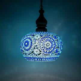 Hanglamp Mozaiek Open Blauw