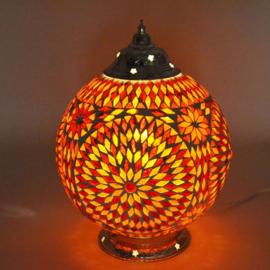 Mozaïeklamp bol Ø 25 rood/oranje
