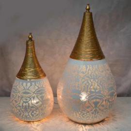Filigrainlamp Wit met Goud Small of Large
