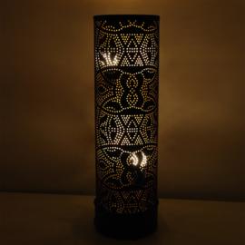Filigrain vloerlamp Cilinder Zwart-Goud