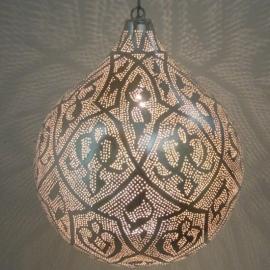 Oosterse lamp Filigrain zilver XXL