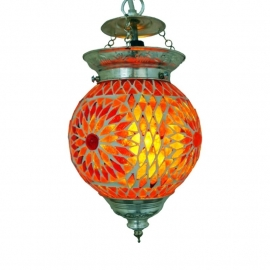 Hanglamp mozaiek Rood-Oranje Ø 15