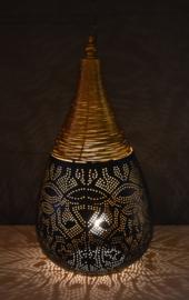 Filigrainlamp Druppel  Zwart-Goud Small of Large