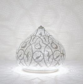Tafellamp Filigrain zilver Patroon S-M-L