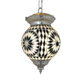 Art deco hanglamp mozaiek zwart-wit Ø 15