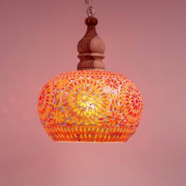 Hanglamp Mozaiek Open Rood-Oranje