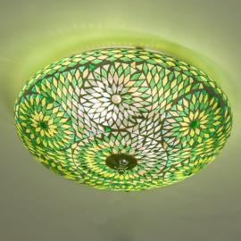Mozaïek plafonnière Ø 38 cm Groen-TD