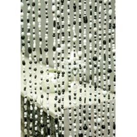 Kralengordijn glas Zwart-Wit