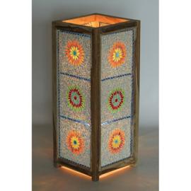 Mozaiek vloerlamp multicolour beads 60 x 25 cm