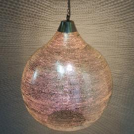 Oosterse lamp zilver Gaatjes XXL