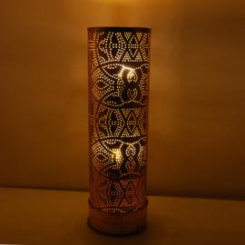 Filigrain vloerlamp Cilinder Vintage Goud